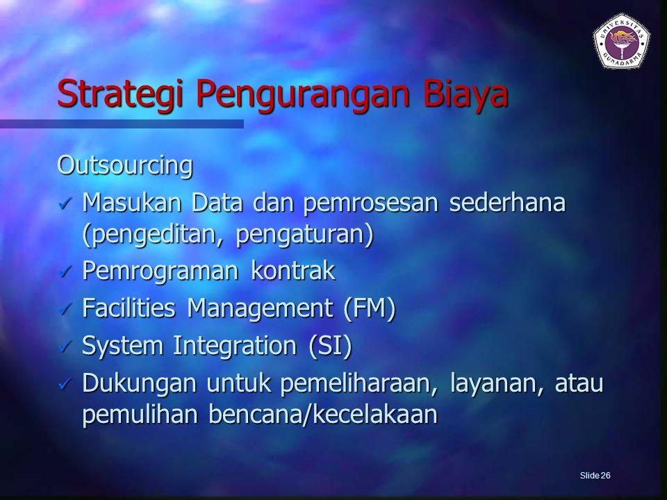 Strategi Pengurangan Biaya