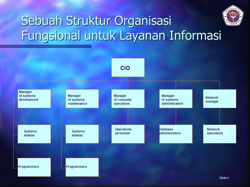Sebuah Struktur Organisasi Fungsional untuk Layanan Informasi