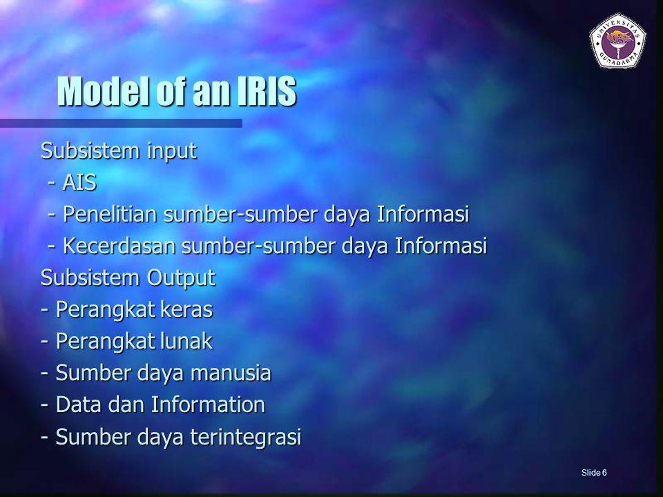 Model of an IRIS