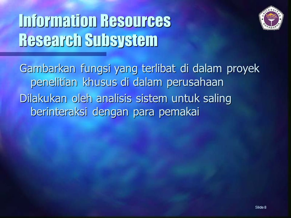 Information Resources Research Subsystem