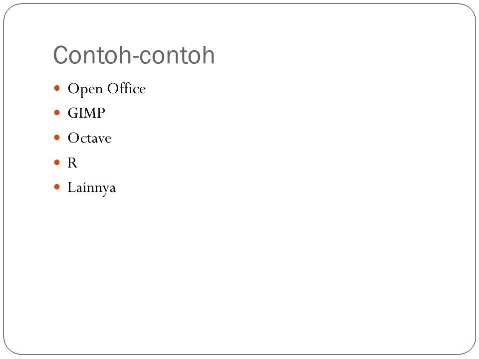 Contoh-contoh Open Office GIMP Octave R Lainnya