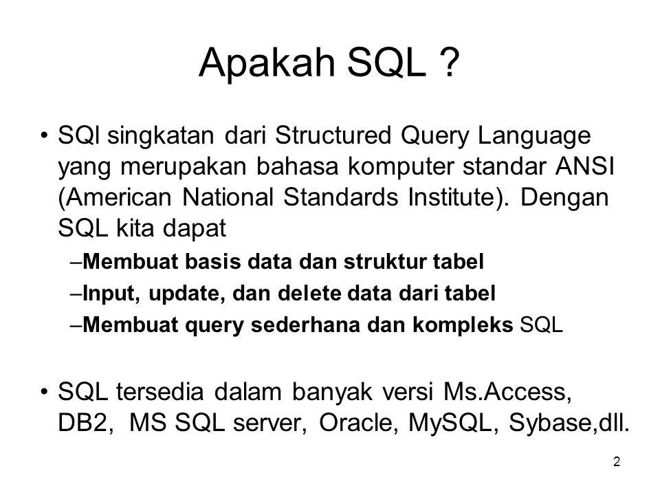 Apakah SQL