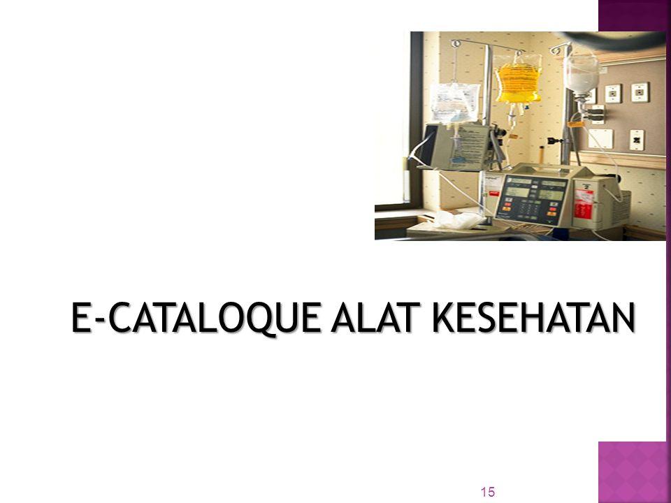 E-CATALOQUE ALAT KESEHATAN