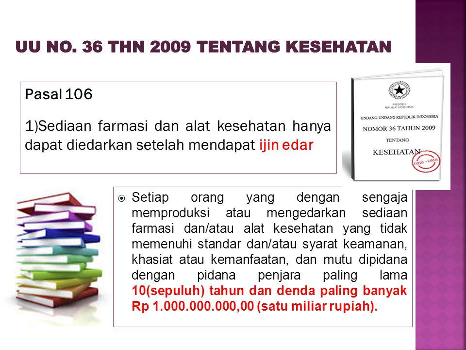 UU No. 36 thn 2009 tentang Kesehatan