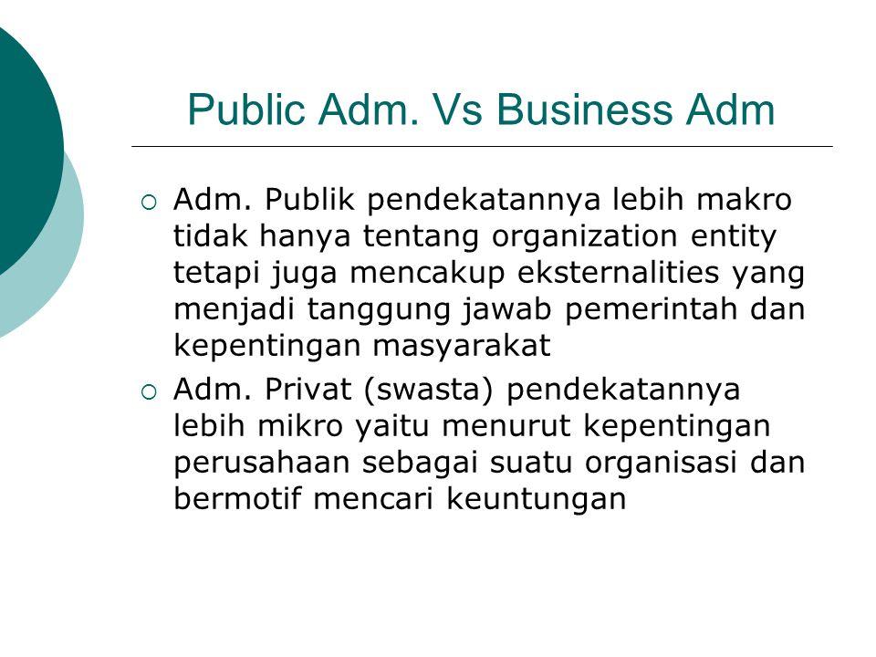 Public Adm. Vs Business Adm