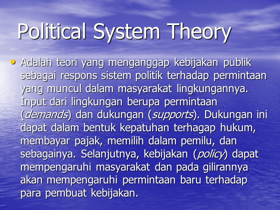 Political System Theory