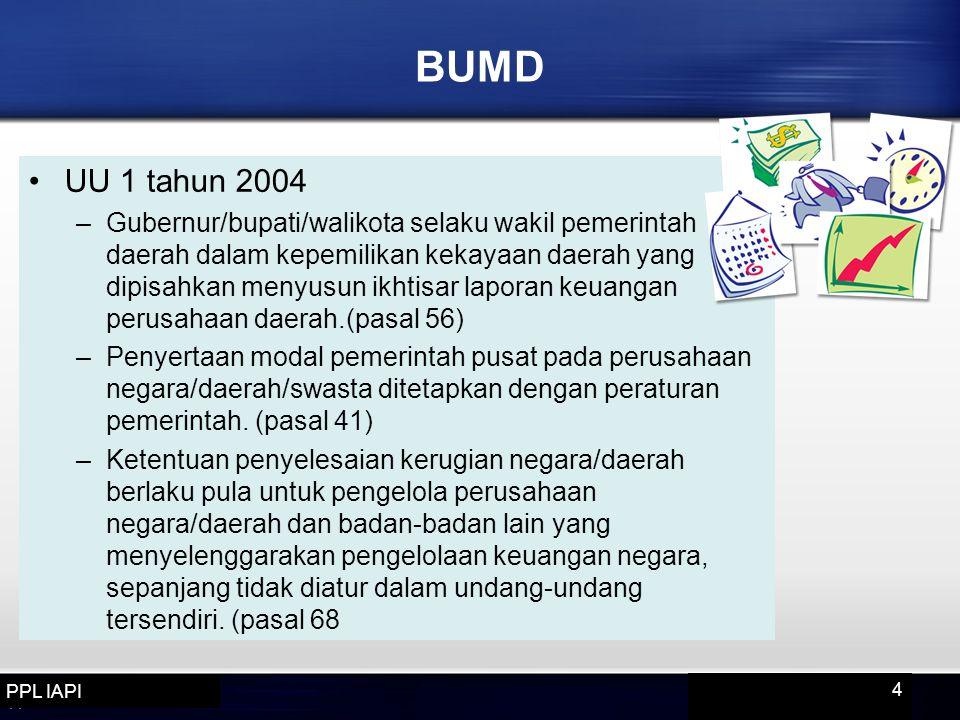 BUMD UU 1 tahun 2004.