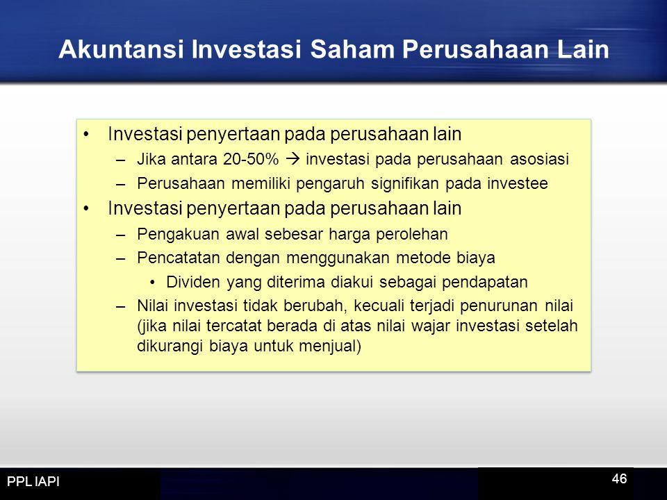 Akuntansi Investasi Saham Perusahaan Lain