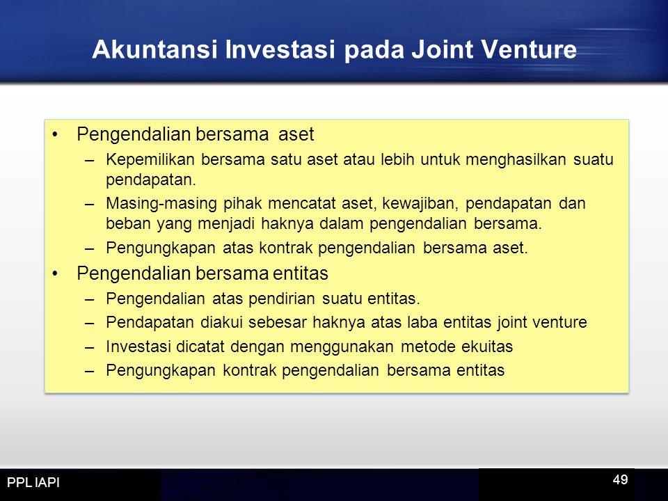 Akuntansi Investasi pada Joint Venture