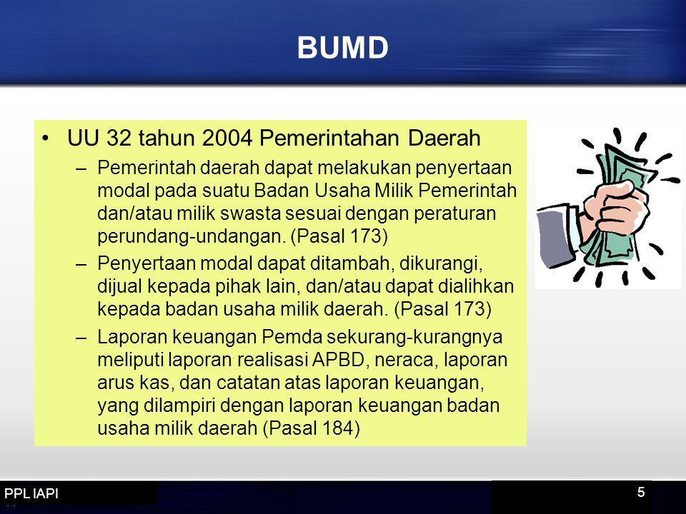 BUMD UU 32 tahun 2004 Pemerintahan Daerah