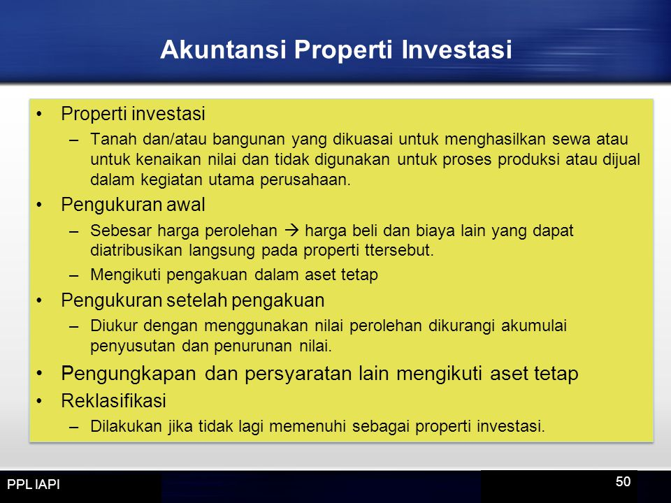 Akuntansi Properti Investasi