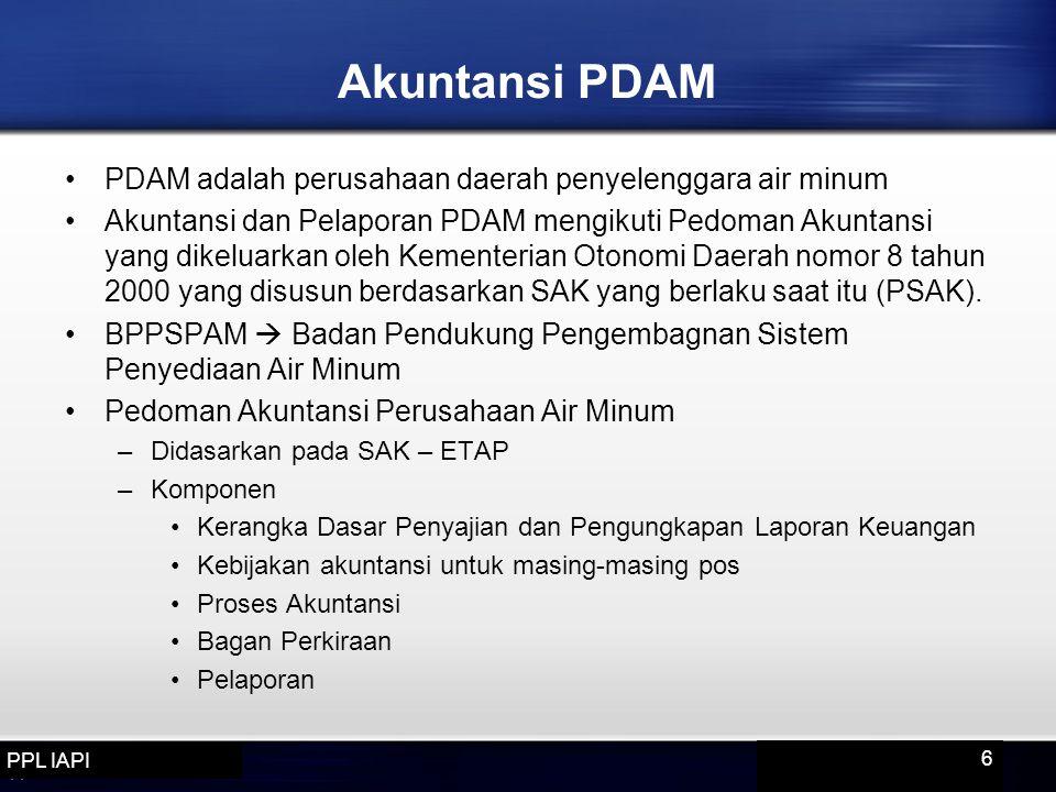Akuntansi PDAM PDAM adalah perusahaan daerah penyelenggara air minum