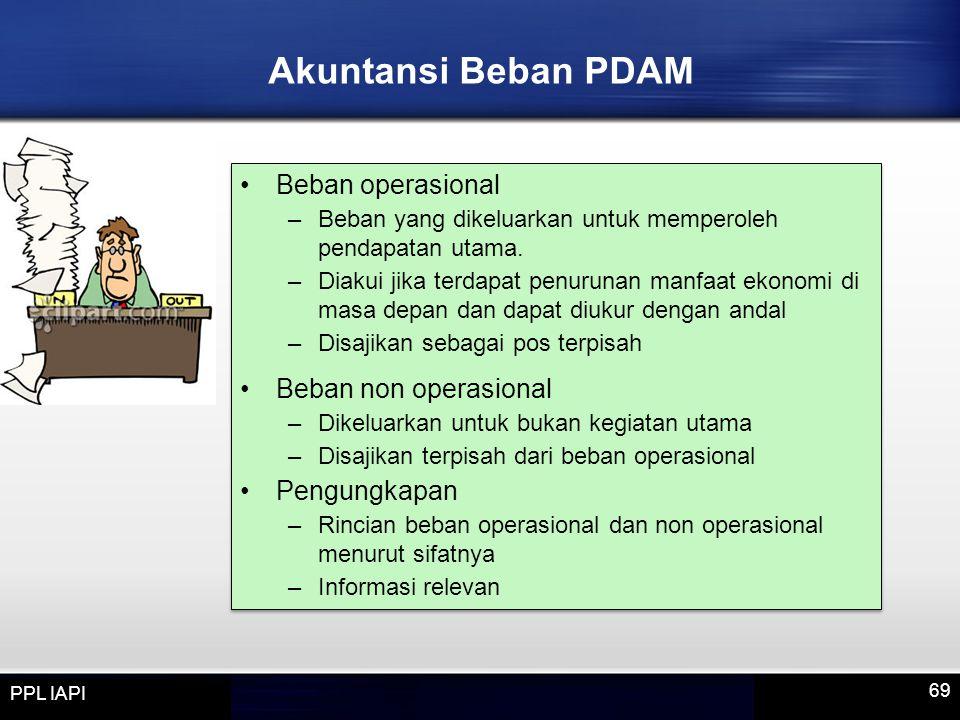 Akuntansi Beban PDAM Beban operasional Beban non operasional