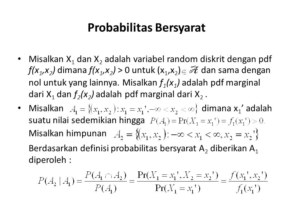 Probabilitas Bersyarat
