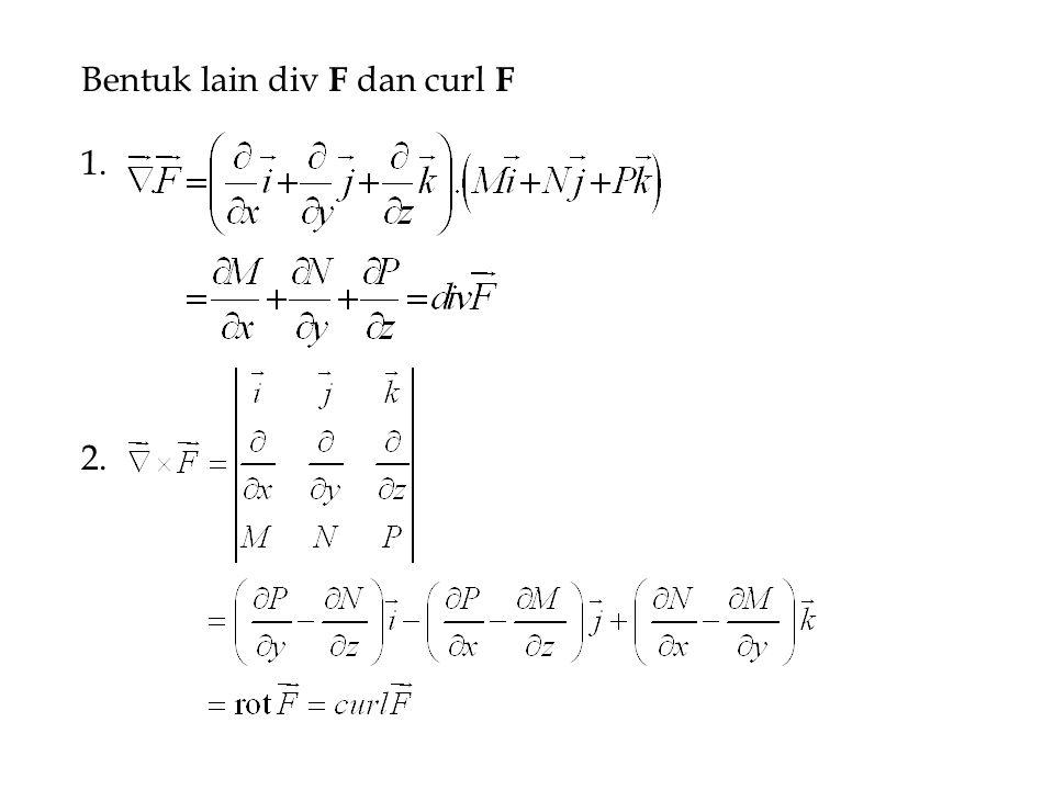 Bentuk lain div F dan curl F