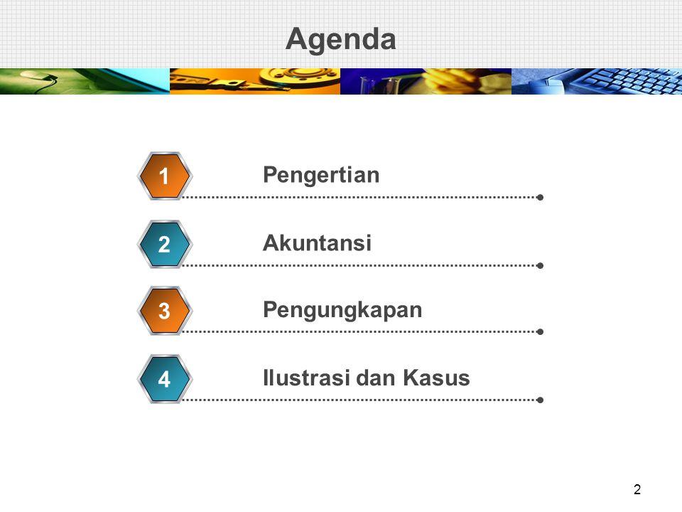 Agenda 1 Pengertian 2 Akuntansi 3 Pengungkapan 4 Ilustrasi dan Kasus