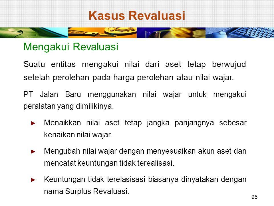 Kasus Revaluasi Mengakui Revaluasi
