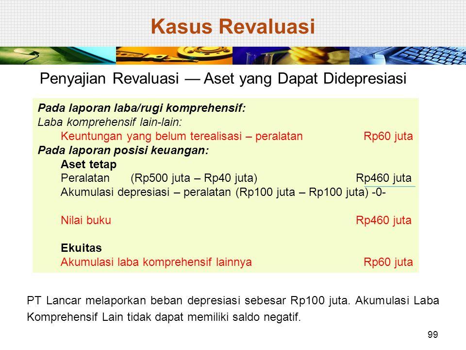 Kasus Revaluasi Penyajian Revaluasi — Aset yang Dapat Didepresiasi