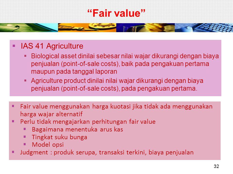 Fair value IAS 41 Agriculture