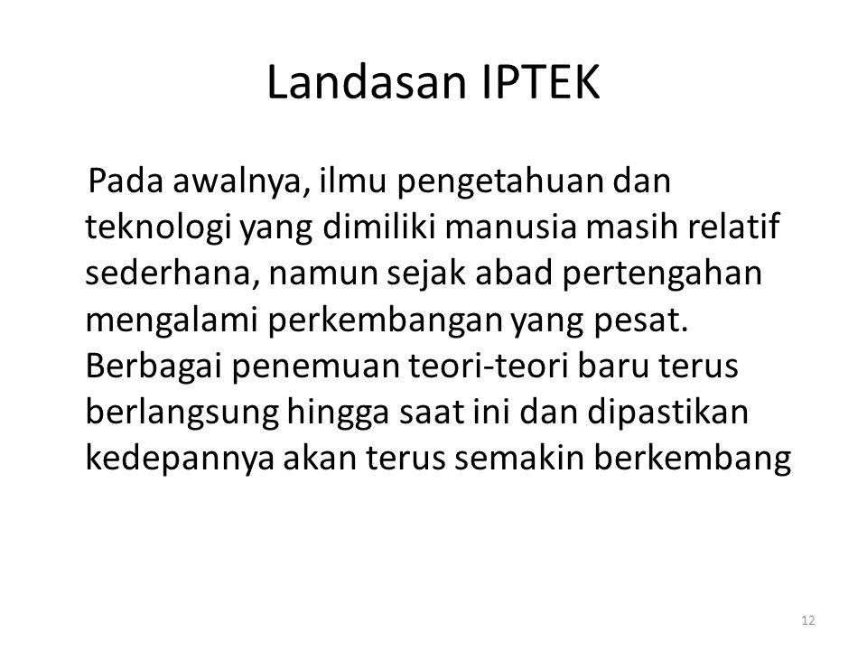 Landasan IPTEK
