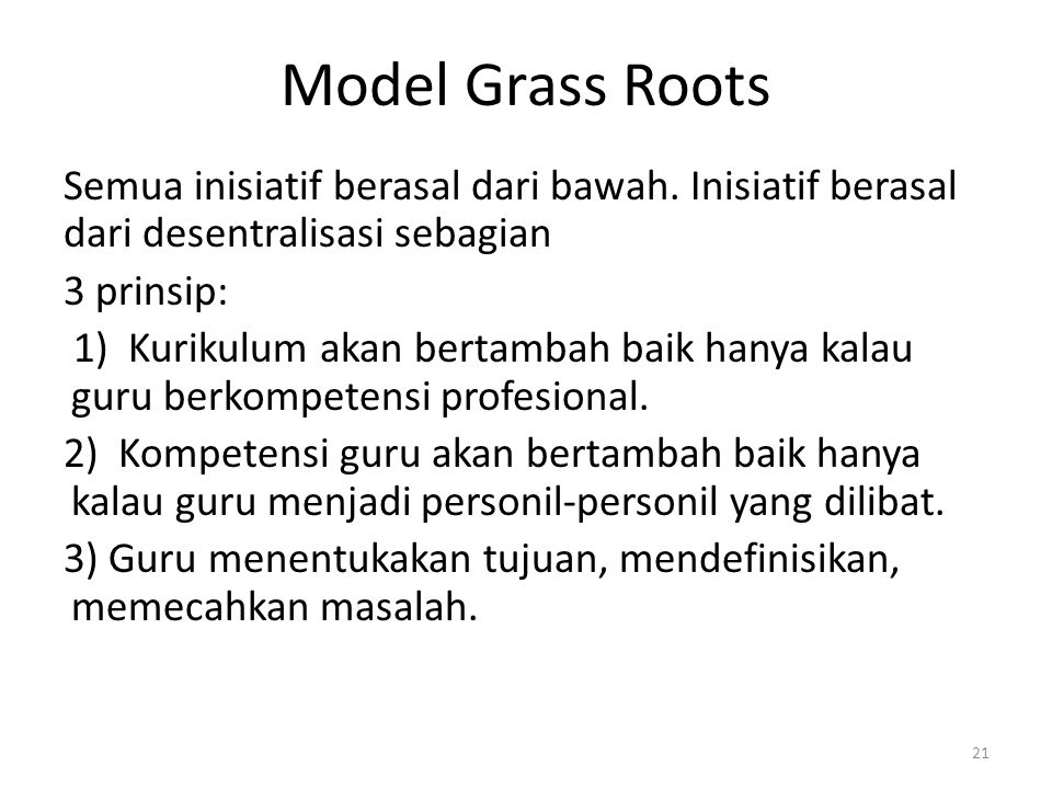 Model Grass Roots