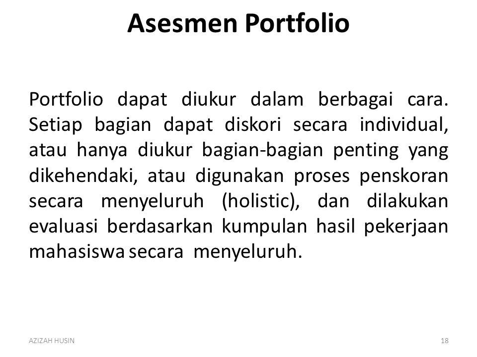 Asesmen Portfolio