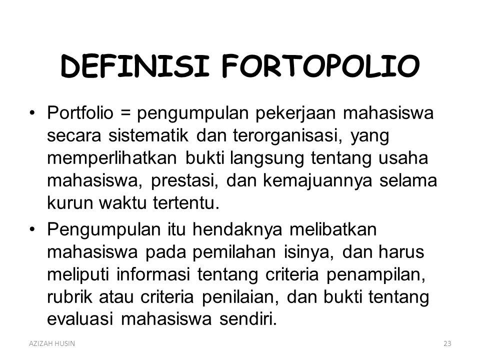 DEFINISI FORTOPOLIO