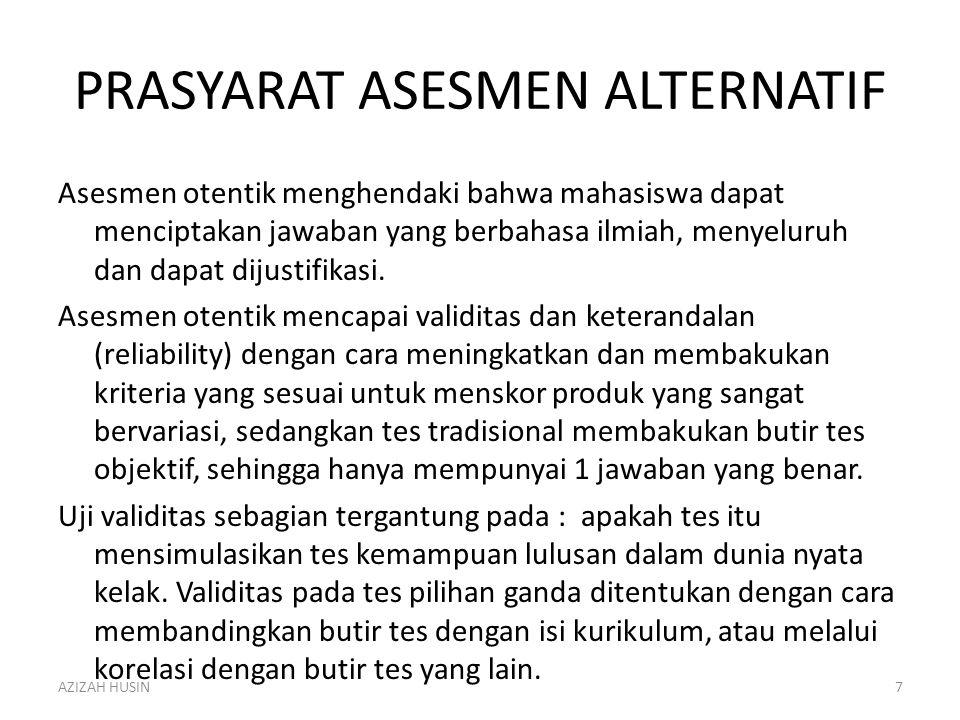PRASYARAT ASESMEN ALTERNATIF