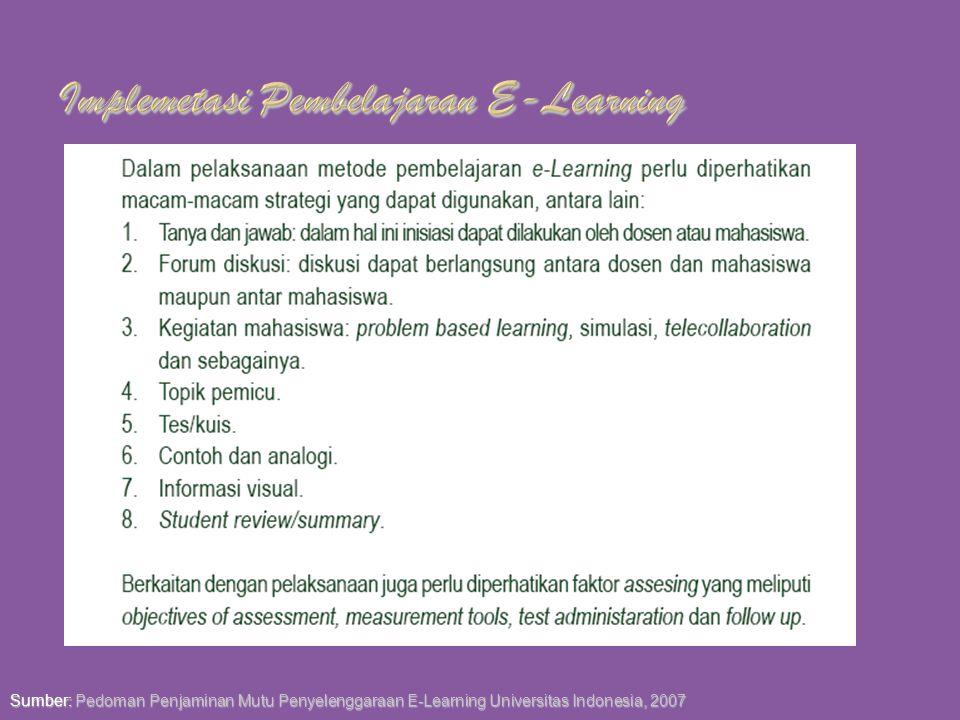 Implemetasi Pembelajaran E-Learning