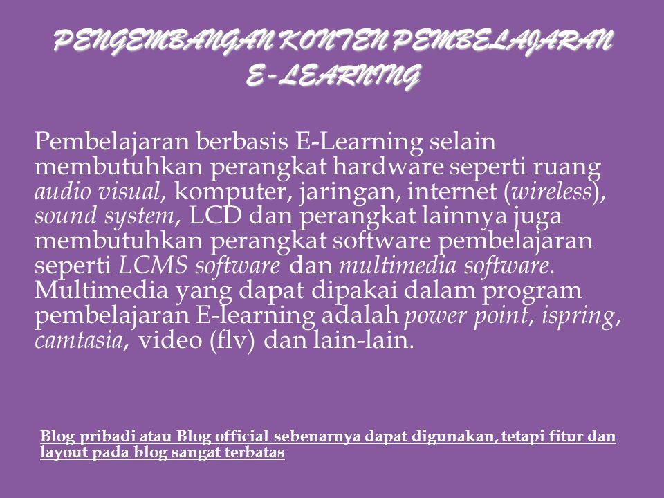 PENGEMBANGAN KONTEN PEMBELAJARAN E-LEARNING