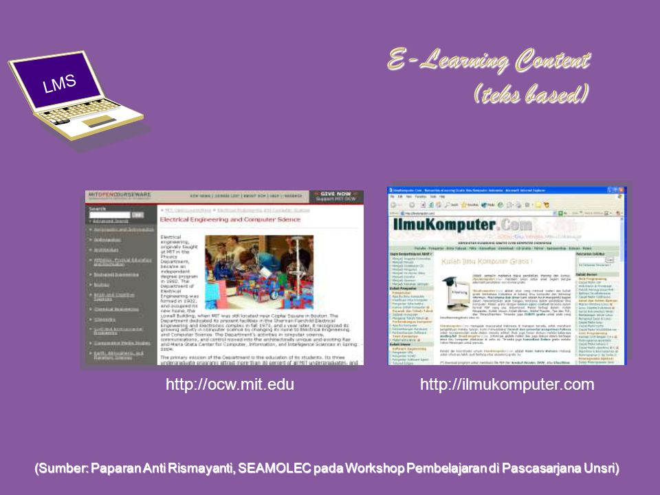 E-Learning Content (teks based)