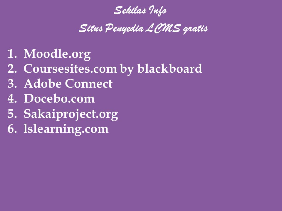 Situs Penyedia LCMS gratis