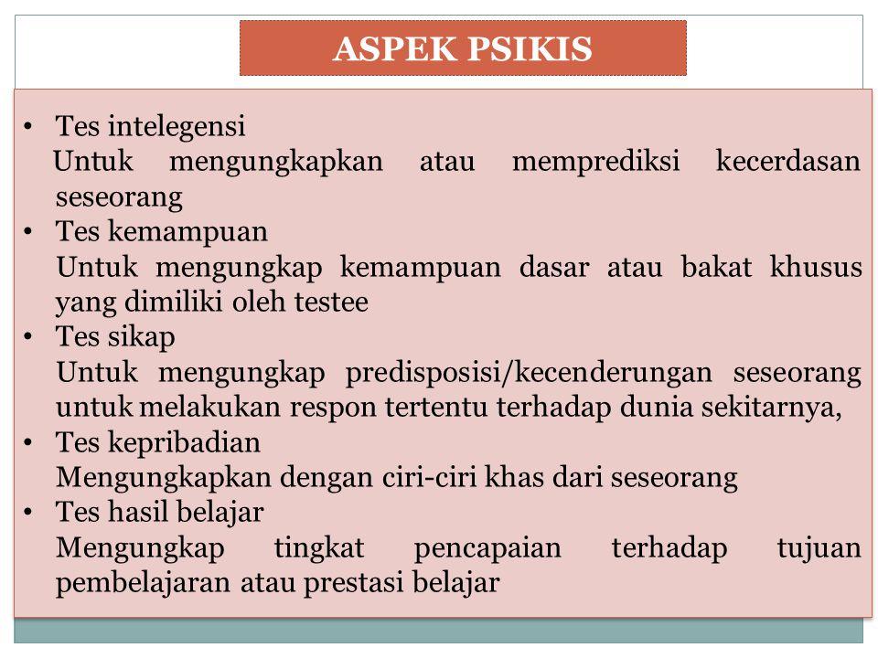 ASPEK PSIKIS Tes intelegensi