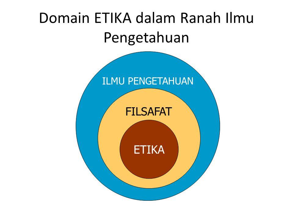 Domain ETIKA dalam Ranah Ilmu Pengetahuan