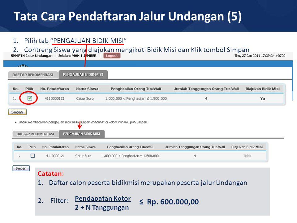 Tata Cara Pendaftaran Jalur Undangan (5)