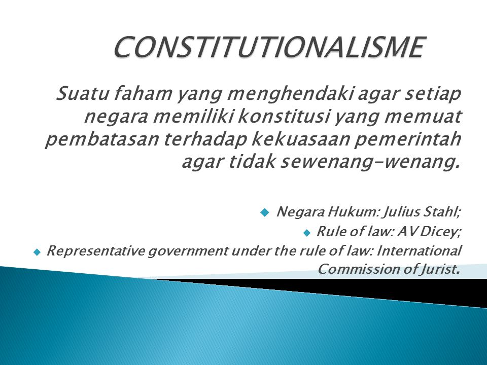 CONSTITUTIONALISME