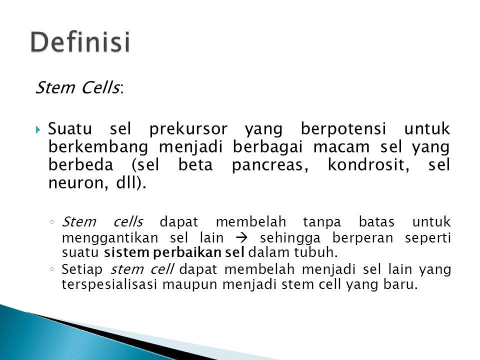 Definisi Stem Cells: