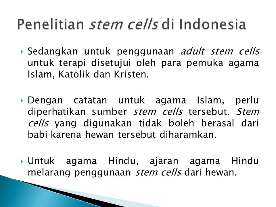 Penelitian stem cells di Indonesia