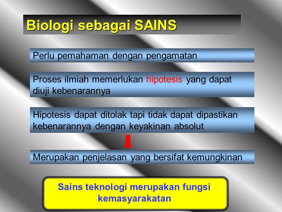 Sains teknologi merupakan fungsi kemasyarakatan