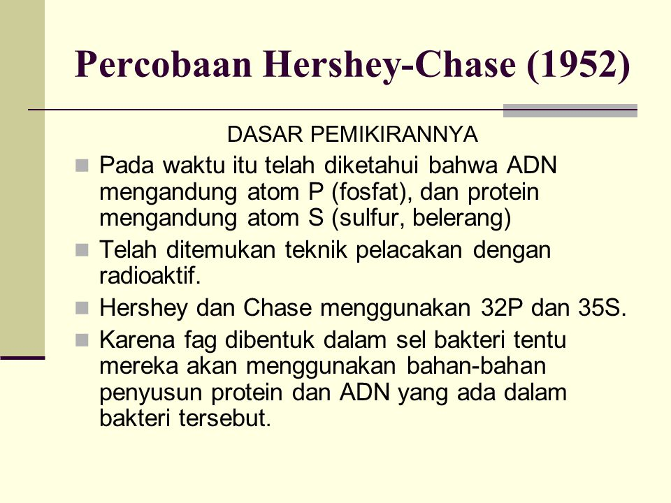 Percobaan Hershey-Chase (1952)