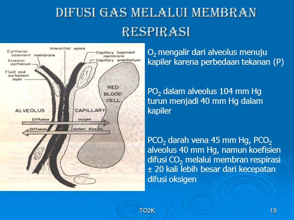DIFUSI GAS MELALUI MEMBRAN RESPIRASI