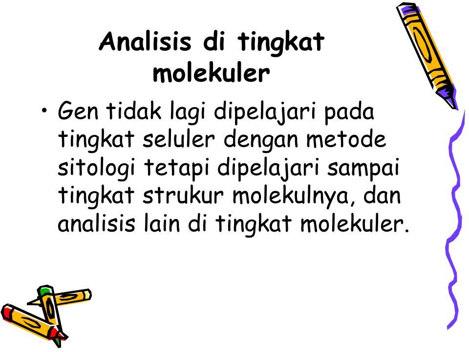 Analisis di tingkat molekuler