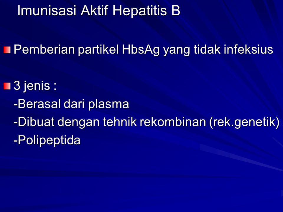 Imunisasi Aktif Hepatitis B