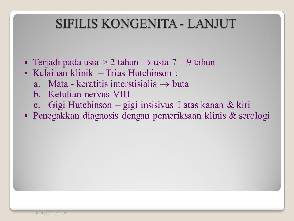 SIFILIS KONGENITA - LANJUT