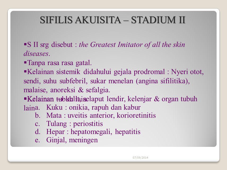 SIFILIS AKUISITA – STADIUM II