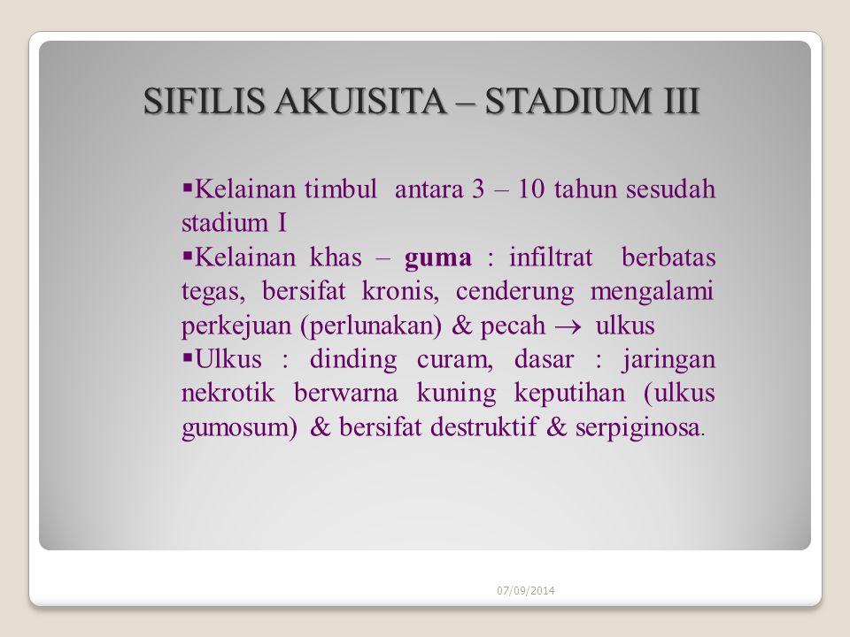 SIFILIS AKUISITA – STADIUM III
