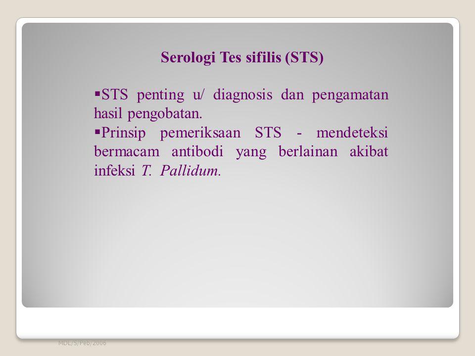 Serologi Tes sifilis (STS)