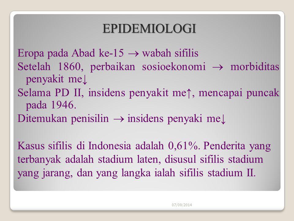 EPIDEMIOLOGI Eropa pada Abad ke-15  wabah sifilis