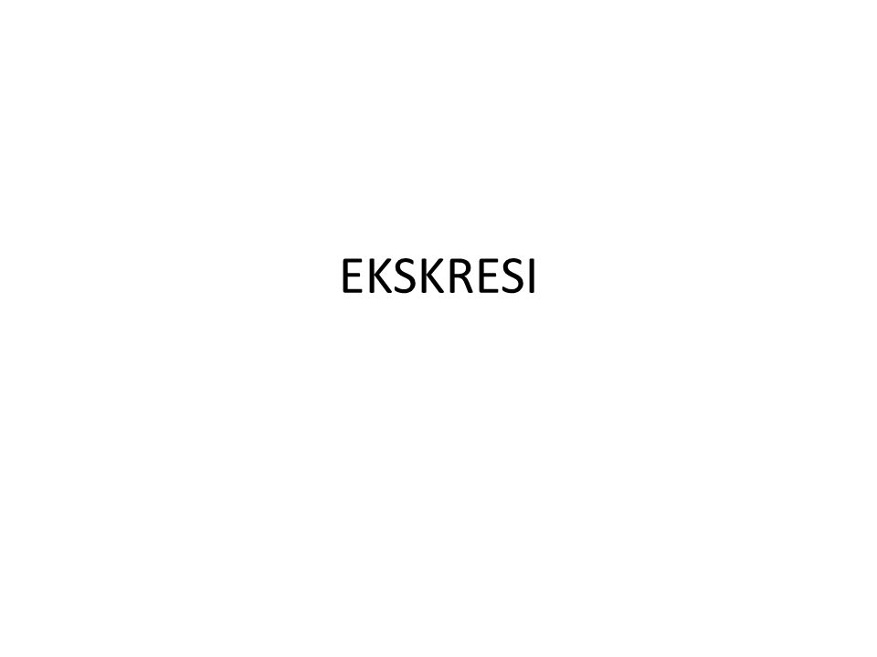 EKSKRESI
