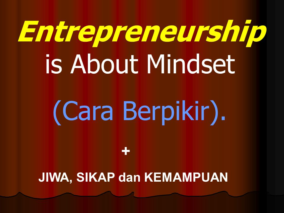 Entrepreneurship is About Mindset